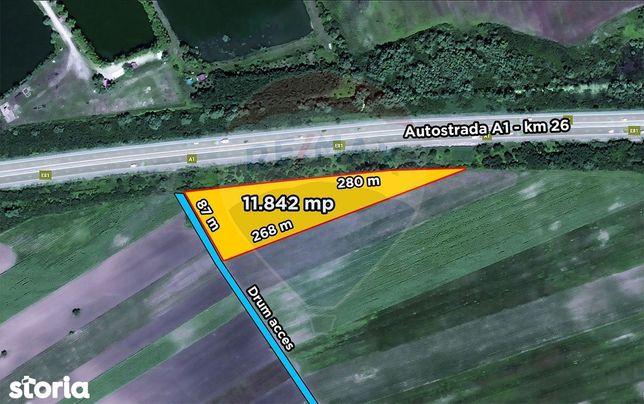 Teren 11.840 mp Autostrada A1 Bucuresti Pitesti km26 Ulmi