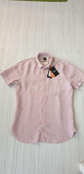 Hugo Boss Orange Len 100% ЛЕН Slim Fit Mens L НОВО! ОРИГИНАЛ!
