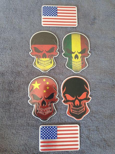 Emblema steagul americi america cap mort craniu schelet auto motor atv