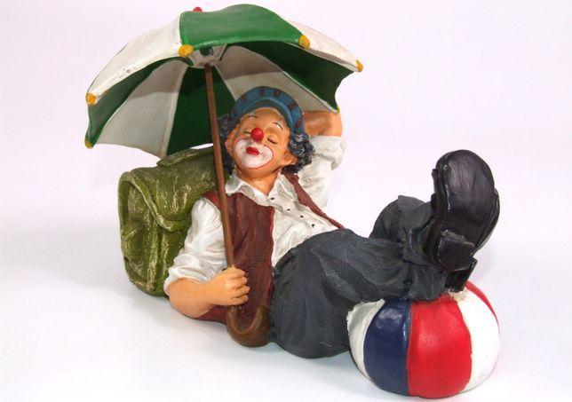 """Bibelou """"Clown dormind"""", handmade, ceramica, vintage, Made in France"""