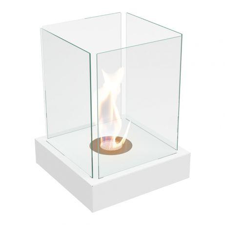 Semineu mini-bioetanol prevazut cu geamuri laterale cu design deosebit