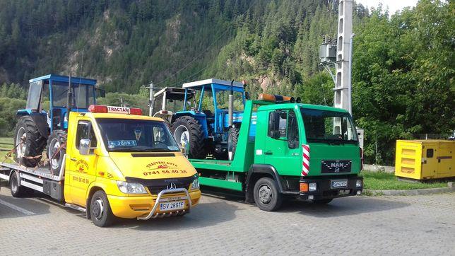 Tractari auto Transport utilaje Platforma