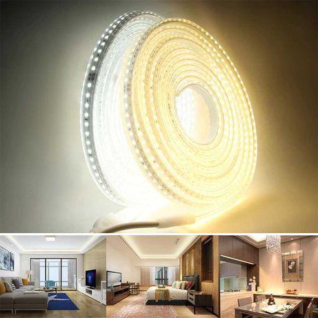 Banda LED 220V 2835 rece 120 LED/m 20m IP67 tub silicon