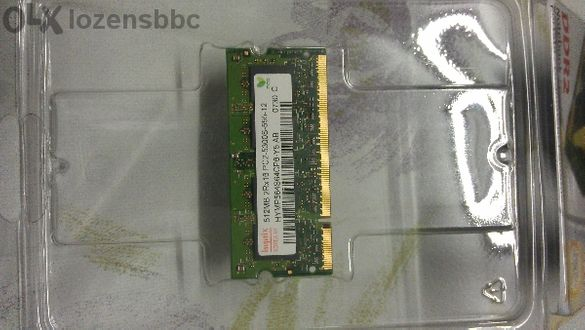 1GB (2х512MB) DDR2 sodimm Pc2-5300s-555-12 Laptop Memory