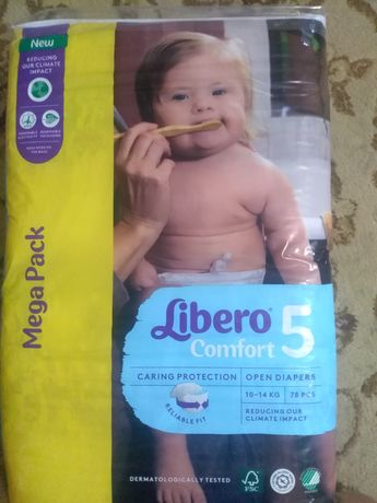 Детские памперсы номер 5 (10-14кг). В упаковке 78 шт