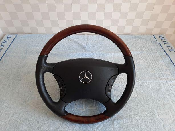 Продам руль Mercedes-benz w220 руль кожа-дерево  с подогревом