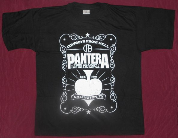 Tricou Pantera - Cowboys From Hell,101 Proof ,calitate 180 grame