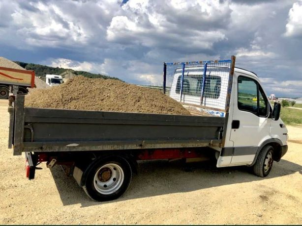 Transport marfa moloz, nisip, piatra, pamant, materiale de constructie