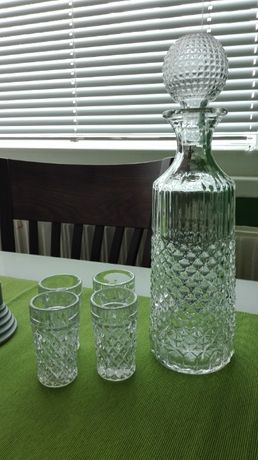 Кристален сервиз за алкохол, ракиени чаши, кристален ледарник