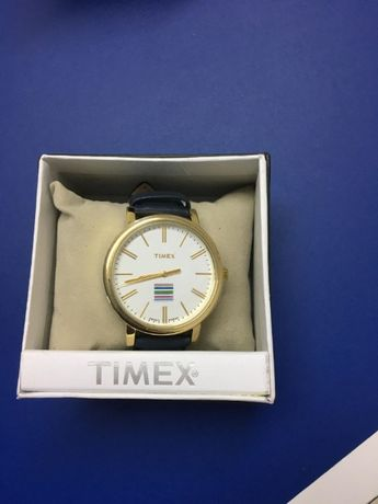ceas Timex (Indiglo), de dama, nou, curea de piele bleumarin, WR 30m
