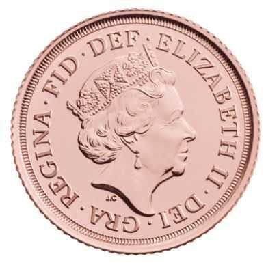 "Монета ""The Half-Sovereign 2020 Gold Bullion Coin"""