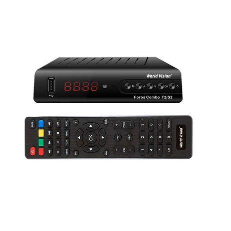 World Vision Foros Combo - cпутниковый + эфирный ресивер, DVB-S2,T2-MI