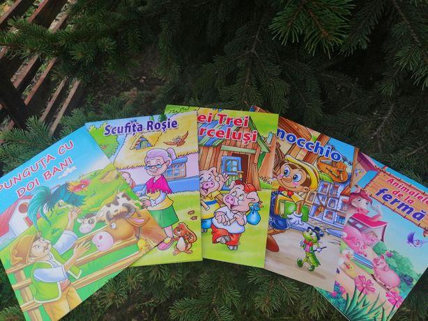 Set 5 cărti povesti ilustrate copii A4 29 ron