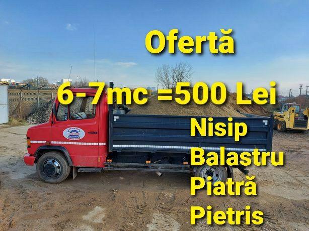 6-7mc=500lei transport vand nisip balastru balast pietriș pământ moluz