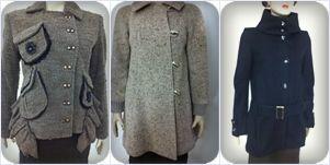 Haina palton stofa lana dama