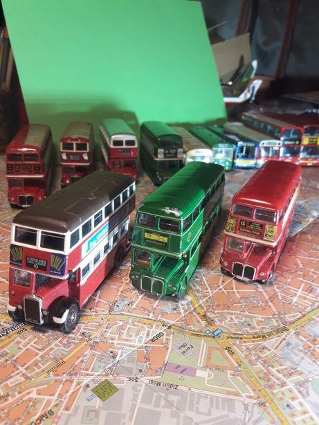Macheta Autobuz Anglia scara 1/76 lot 15 piese de colectie