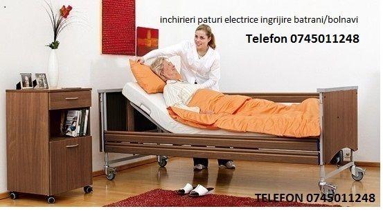 pat electric/spital ingrijire batrani/bolnavi cu telecomanda