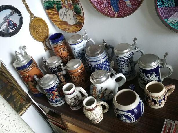 Colectie de HALBE din ceramica decorate manual (GERZ, Germania)