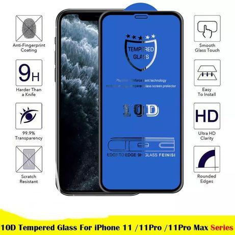 Folie sticla 10D full screen iphone 11 / 11 pro / 11 pro max / 12