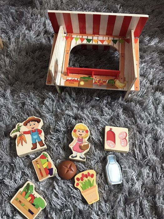 """Joc din lemn """"La piața"""" Suceava - imagine 1"""