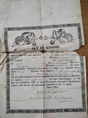 Act de cununie 1860 (Akt de kununie)