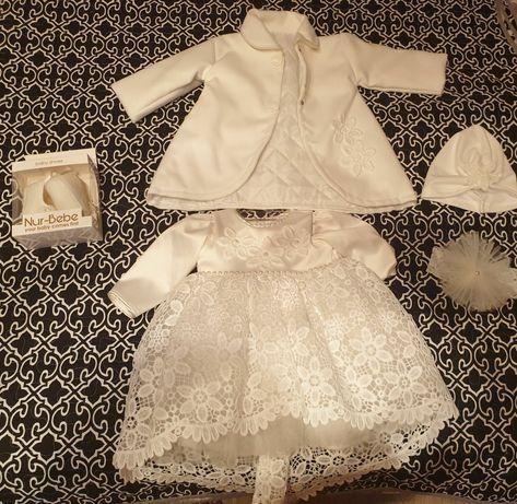 Rochita bebe, paltonas,turban, bentita