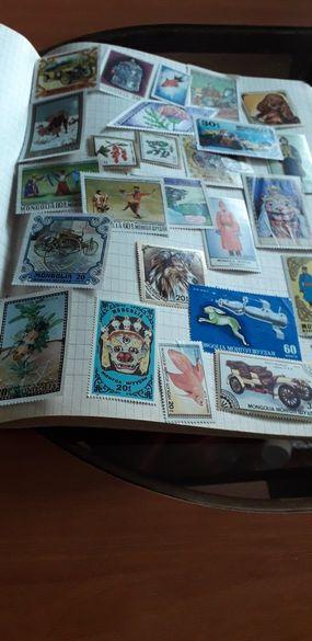 Колекция монголски марки, 460бр.