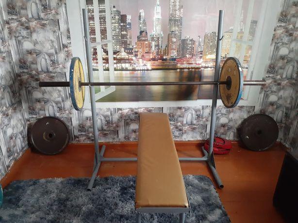 Штанга разборная вес 140 кг