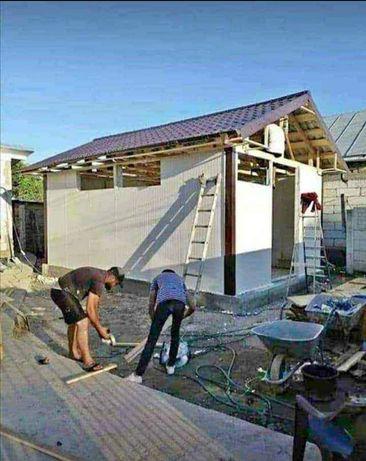 vand case pe structura metalica sau din lemn