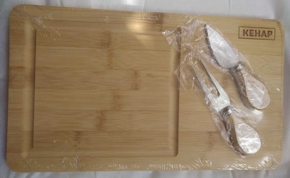 комплект дъска за сирена и кухненска престилка Кенар