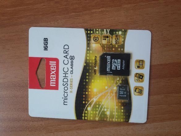 карта памет MAXELL MICRO SDHC, 16GB, КЛАС 10 за Full HD.
