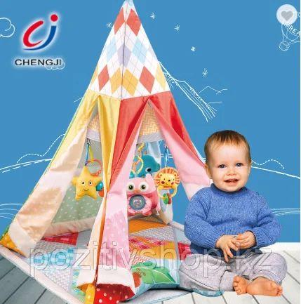 Детская палатка вигвам с ковриком и игрушками