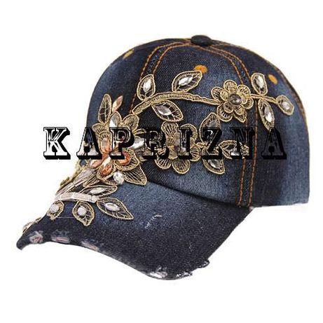 "дънкова шапка ""Flower Lux"""