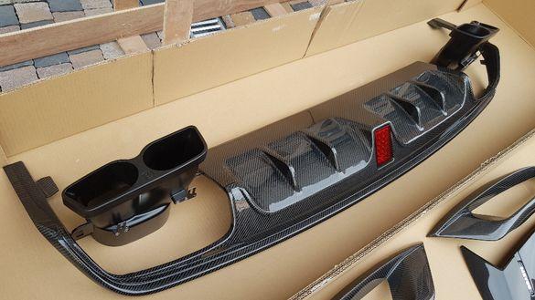 Заден дифузер карбон + Накрайници Mercedes S63 S65 W222