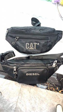Чанта за кръст CAT и Diesel от здрав плат
