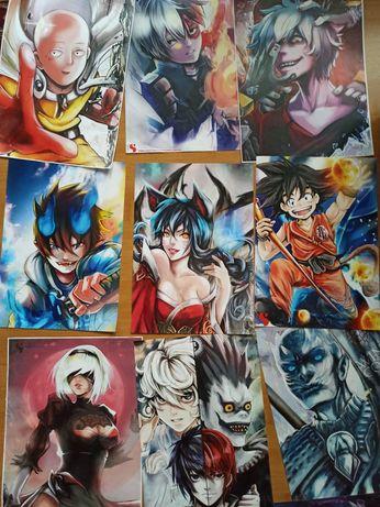 set 25 postere format a3 anime, manga, dragon ball, naruto, got, etc