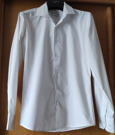 Продам белую рубашку 100%ХБ с длинным рукавом, GANTA,Турция, размер XS