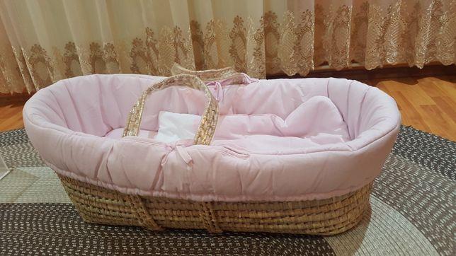 NOU!! Cos Botez Sweeties - pink, superb, din bambus, marca Pali Italia