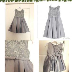 Нарядное серое платье праздничное платье нарядное серое 98-122см пайет