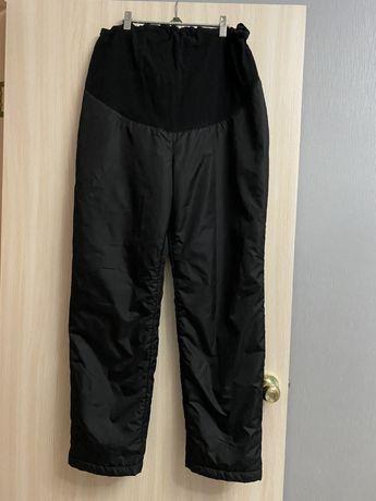 Зимние брюки одежда для беременных утепленные штаны