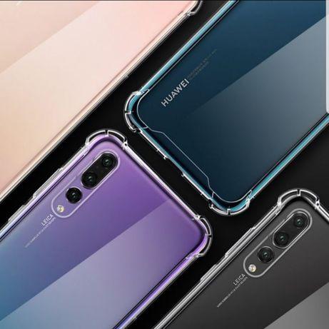 Прозрачен Силиконов Кейс за Huawei P30 Lite Y6 Y7 2019 P20 P40 Pro E