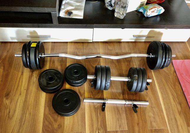 Pachet sala acasa gantere reglabile, haltera bara z cu discuri 45 kg