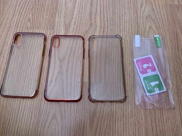 Set 3 huse+ folie de plastic pentru față iPhone x/Xs, transport gratis