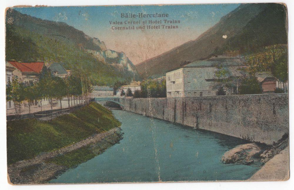 Carte poștală Băile Herculane 1927