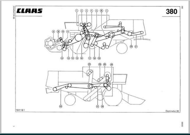 Manual de service reparatii catalog piese tractor combina CLAAS Same