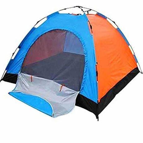 Палатка дуговая 3х местная бюджетная с москиткой и полом