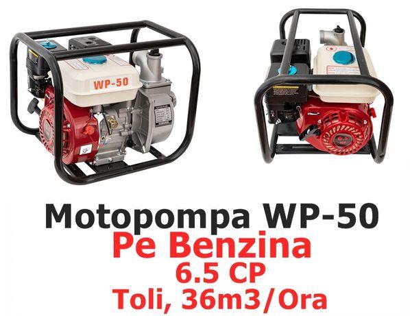Motopompa apa 6.5CP , 2Toli 36m3/ora Pe Benzina model WP-50