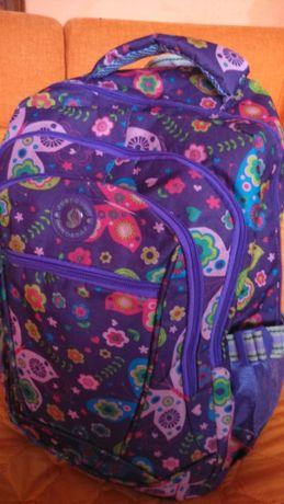 Стандартна Раница за училище за момиче в лилаво и розово