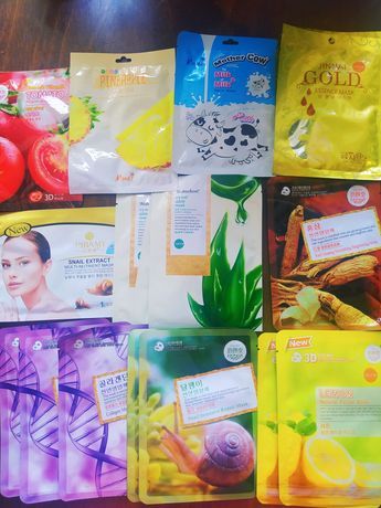Тканевые маски из Таиланда. Все по 500