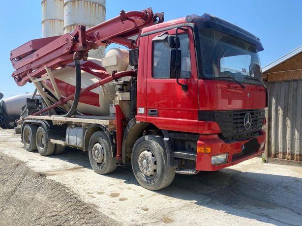 Vand pompa beton Mercedes Benz 28 m cu malaxor 7mc